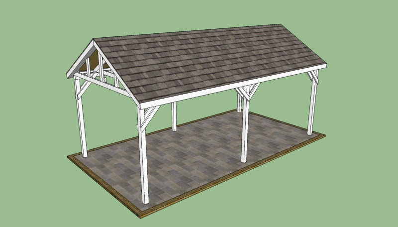Build carport plans made of wood and standing diy wooden for Free standing carport plans